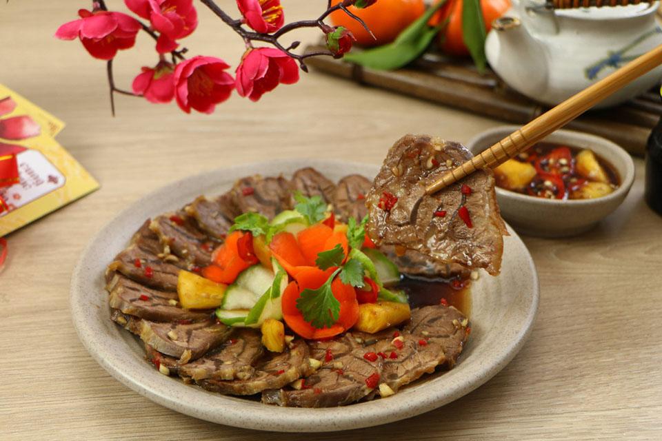 Ứng dụng sản phẩm bắp bò ngâm gia vị chua ngọt