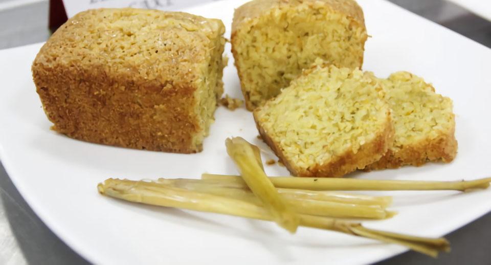Bánh bông lan sả với bột sả thơm ngon